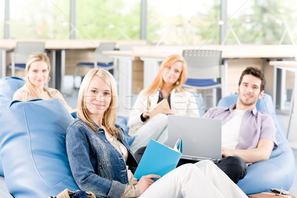 Portrait of high-school study group Stock photo © CandyboxPhoto