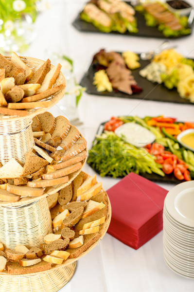 Bread selection catering buffet served food Stock photo © CandyboxPhoto