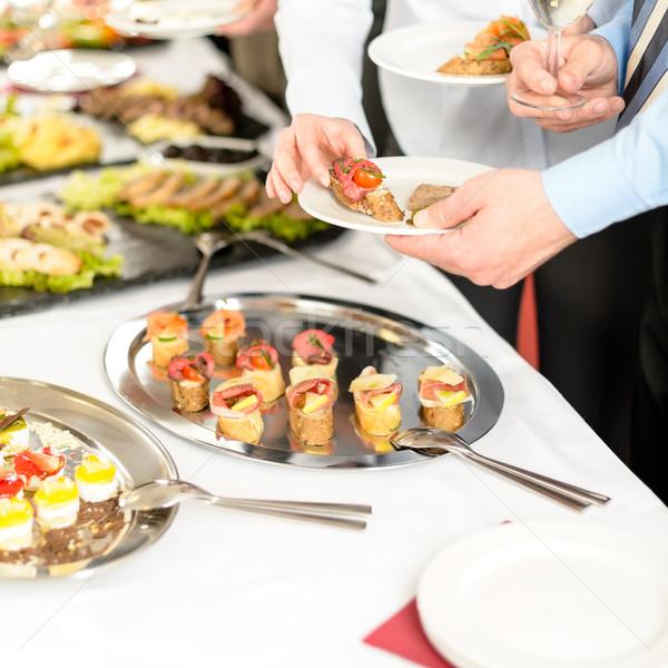 Gens d'affaires buffet restauration affaires Photo stock © CandyboxPhoto