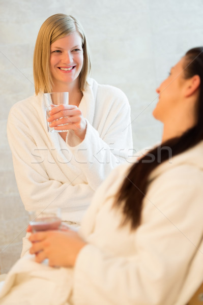 Women drink water at beauty spa Stock photo © CandyboxPhoto