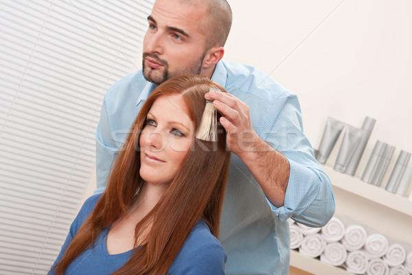 Profi fodrász választ haj festék szín Stock fotó © CandyboxPhoto