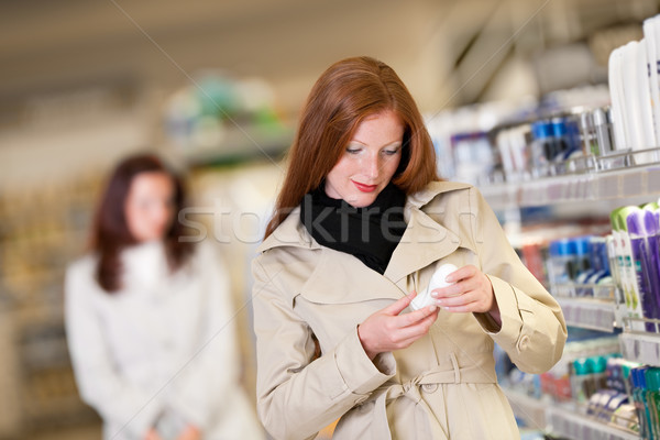 Shopping series - Red hair woman buying deodorant Stock photo © CandyboxPhoto