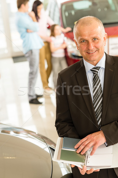 Car agent showing color swatches Stock photo © CandyboxPhoto