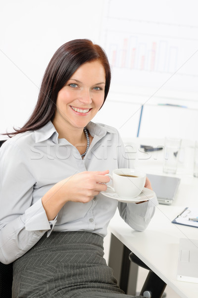 Attractive businesswoman drink coffee Stock photo © CandyboxPhoto