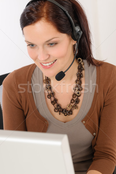 Professional call center representative woman Stock photo © CandyboxPhoto