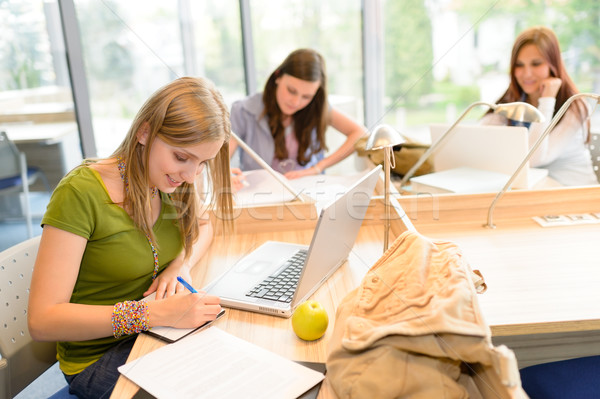 Group of students sitting at study room  Stock photo © CandyboxPhoto