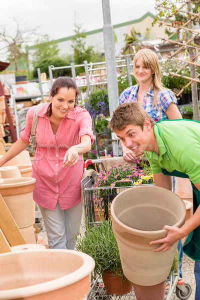 Customers choose flower pots in garden center Stock photo © CandyboxPhoto