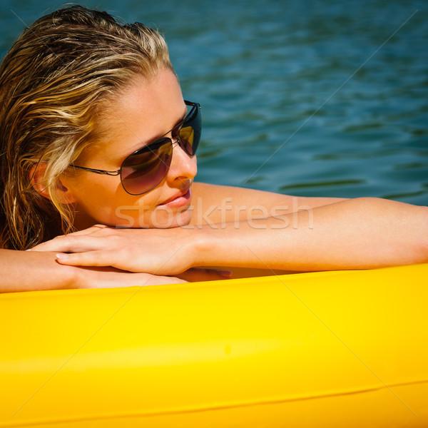 夏 女性 黄色 マットレス 空想 ストックフォト © CandyboxPhoto
