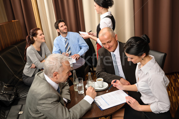 Business meeting executives dealing at restaurant  Stock photo © CandyboxPhoto