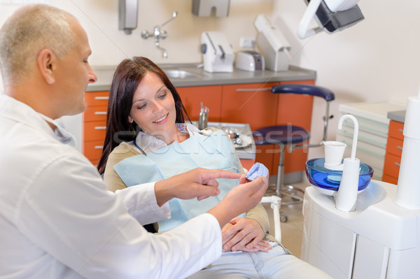 Femme visiter dentiste orthodontique chirurgie patient Photo stock © CandyboxPhoto