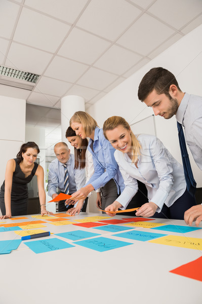 Business Colleagues Brainstorming With Labels Stock photo © CandyboxPhoto