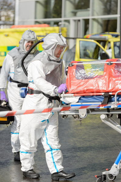 Biohazard medical team with stretcher Stock photo © CandyboxPhoto