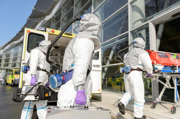 HAZMAT team entering contaminated building Stock photo © CandyboxPhoto