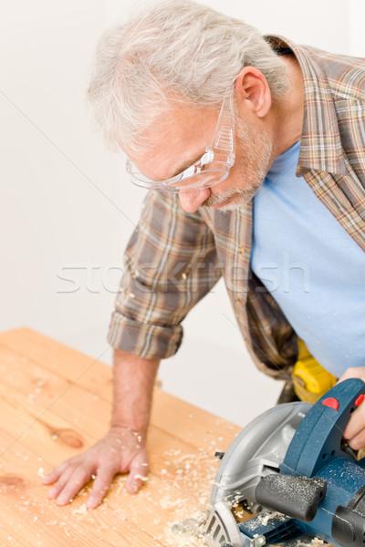 Lakásfelújítás ezermester vág fa fűrész műhely Stock fotó © CandyboxPhoto