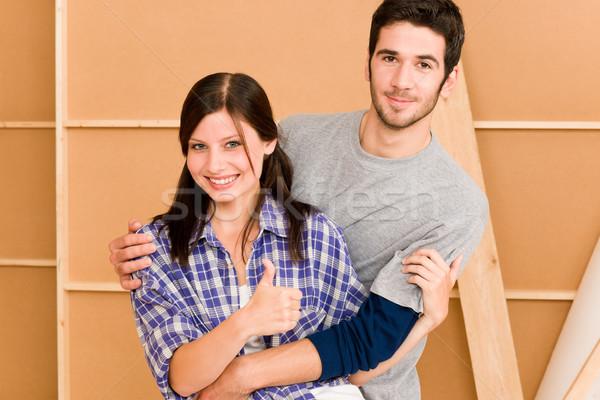 Ev geliştirme genç mutlu çift birlikte Stok fotoğraf © CandyboxPhoto