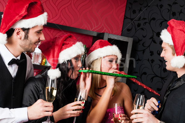 Christmas party friends have fun at bar Stock photo © CandyboxPhoto