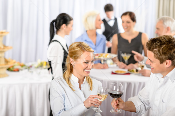 営業会議 宴会 男 女性 を祝う ワイン ストックフォト © CandyboxPhoto