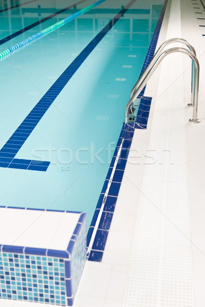 Aqua park - swimming pool with stairs Stock photo © CandyboxPhoto