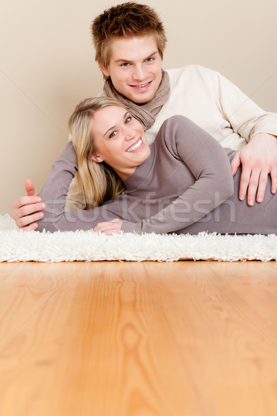 Couple in love - happy relax at home Stock photo © CandyboxPhoto
