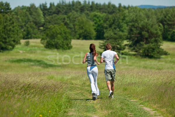Jogging extérieur printemps nature Photo stock © CandyboxPhoto