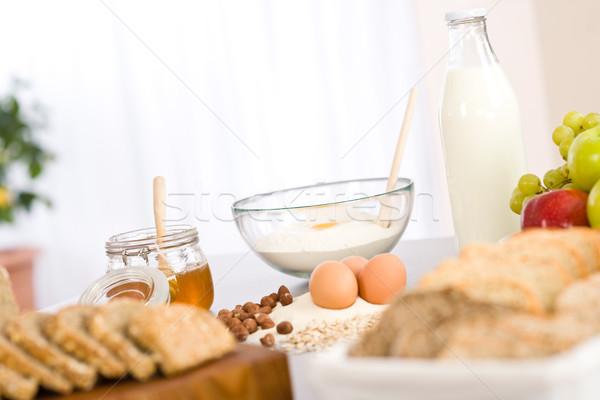 Malzemeler bal yumurta un mutfak Stok fotoğraf © CandyboxPhoto