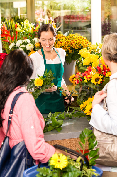 Young woman florist cutting flower shop customers Stock photo © CandyboxPhoto