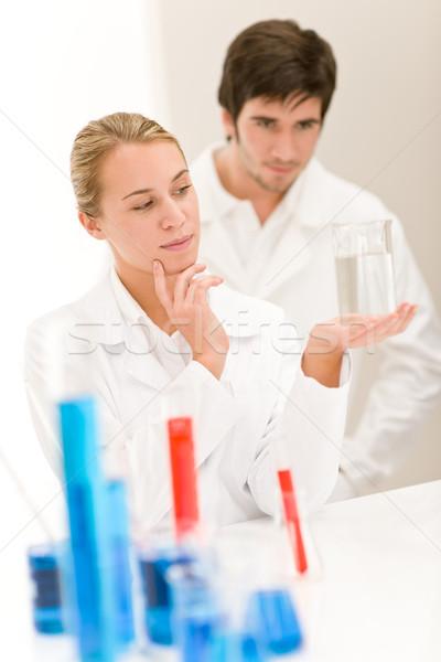 Bilim adamları laboratuvar test kimyasallar test virüs Stok fotoğraf © CandyboxPhoto