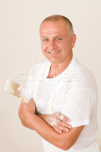 домой зрелый человек кистью портрет стены Живопись Сток-фото © CandyboxPhoto