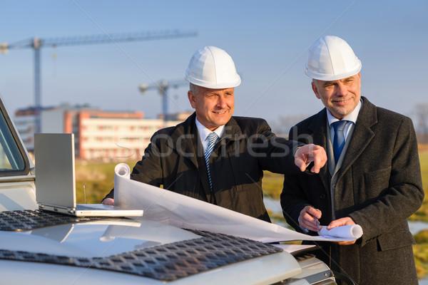 Architekta wywoływacz punkt budowa mężczyzna Zdjęcia stock © CandyboxPhoto