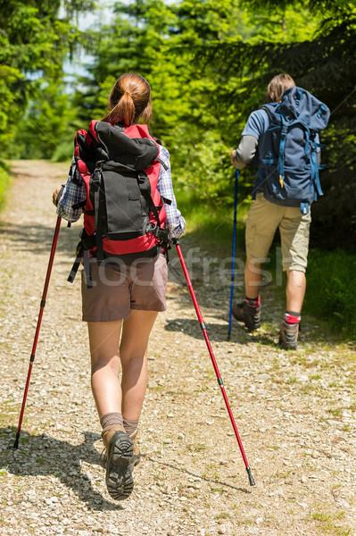 Genç trekking orman genç yürüyüş Stok fotoğraf © CandyboxPhoto