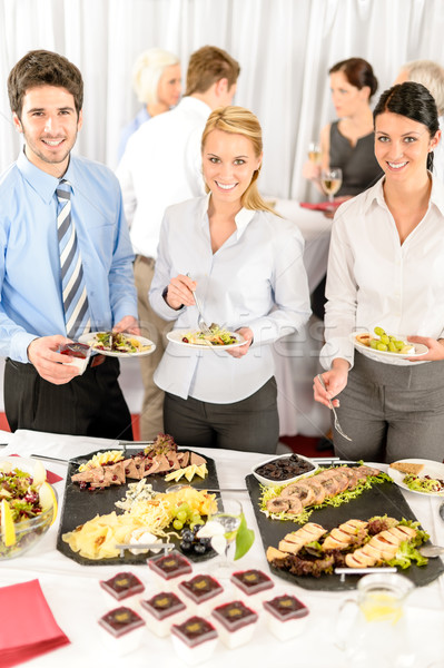 Company meeting catering business people eating Stock photo © CandyboxPhoto