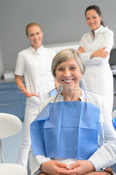 Senior mulher paciente profissional dentista equipe Foto stock © CandyboxPhoto