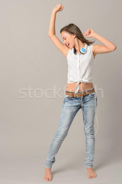 танцы пения наслаждаться музыку Сток-фото © CandyboxPhoto