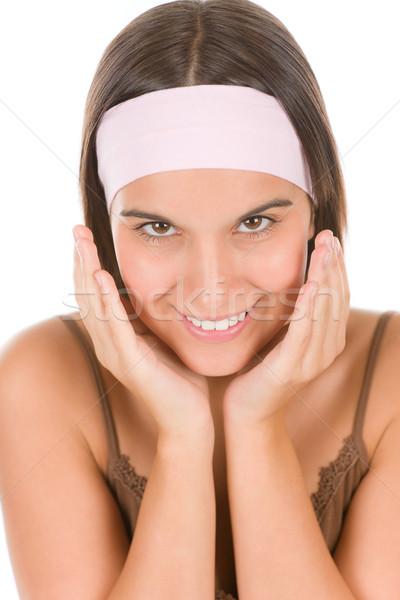 Tinédzser probléma bőrápolás fiatal nő fehér arc Stock fotó © CandyboxPhoto