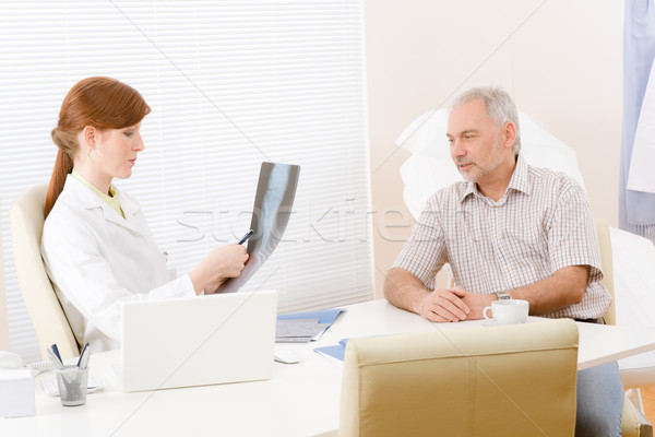 Doctor office - female physician patient x-ray Stock photo © CandyboxPhoto