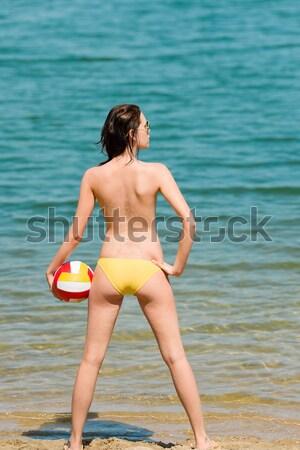 Verano playa mujer disfrutar sol mantener Foto stock © CandyboxPhoto