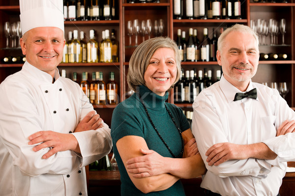 Restaurant manager posing with professional staff Stock photo © CandyboxPhoto