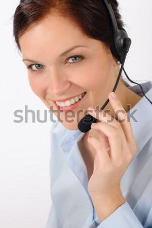 Klantenservice vrouw call center telefoon hoofdtelefoon team Stockfoto © CandyboxPhoto