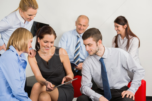 Business Team With Digital Tablet Stock photo © CandyboxPhoto