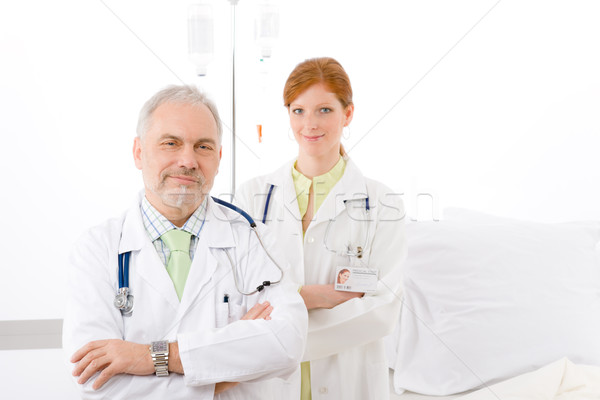Medical team - portrait two doctor hospital  Stock photo © CandyboxPhoto
