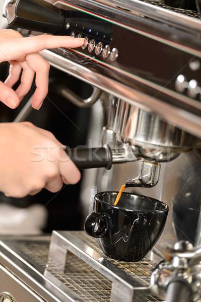 Café café expresso máquina mãos Foto stock © CandyboxPhoto