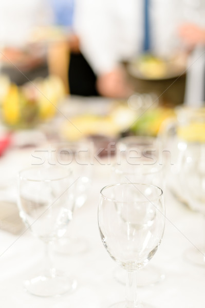 Negocios celebración primer plano gafas brindis empresa Foto stock © CandyboxPhoto