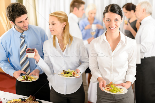 бизнеса коллеги буфет питание службе компания Сток-фото © CandyboxPhoto