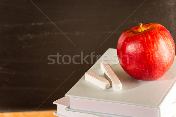 Professor's academic table pile of books Stock photo © CandyboxPhoto