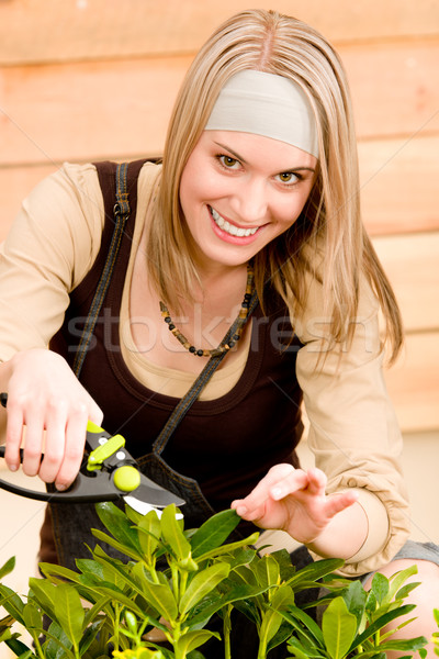 Gardening woman pruning plants in spring Stock photo © CandyboxPhoto