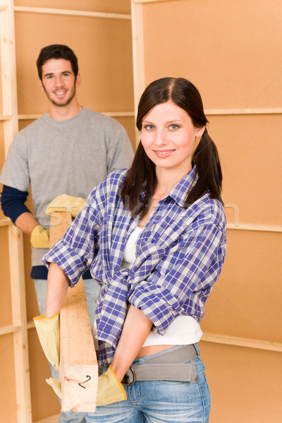 Home improvement young couple work on renovations Stock photo © CandyboxPhoto