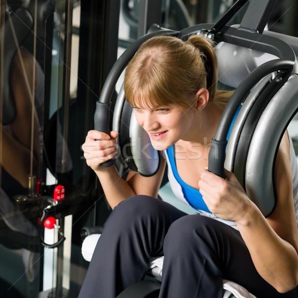 Fitness centro esercizio addominale muscoli Foto d'archivio © CandyboxPhoto