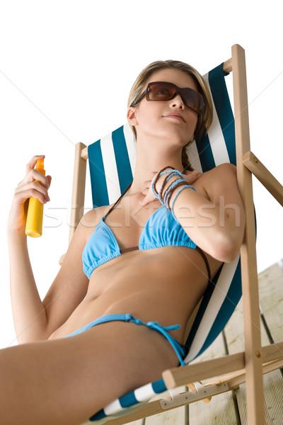 пляж загар лосьон Бикини Солнцезащитные очки Сток-фото © CandyboxPhoto