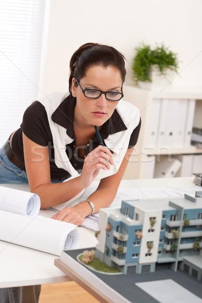 Сток-фото: молодые · архитектора · очки · рабочих · современных · служба