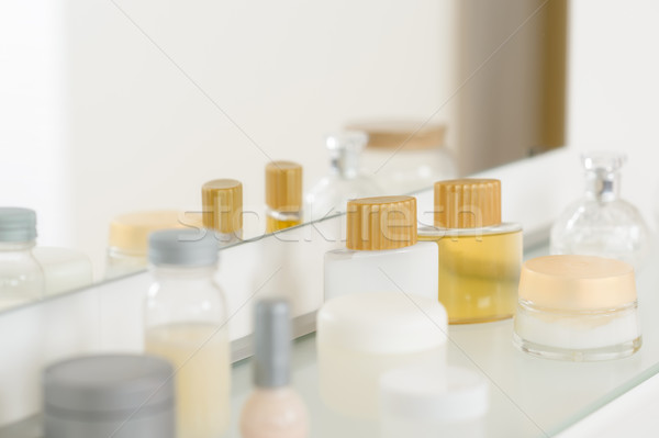 Bathroom shelf with beauty and hygiene products Stock photo © CandyboxPhoto